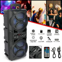 BT Party Speaker Vertical  Stereo Led Display Wireless Porta