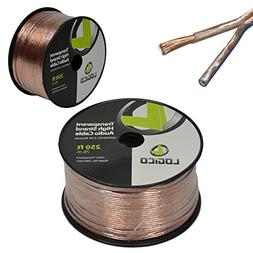 16/2 250FT 16AWG GAUGE 2 CONDUCTOR TRANSPARENT HIGH STRAND S