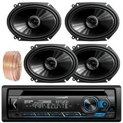 "DEHS4100BT Bluetooth CD Pioneer Stereo, Pioneer 6x8"" Coaxial"