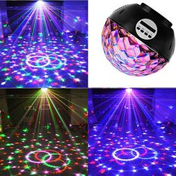 Disco Ball Party Lights Speaker with Wireless Bluetooth, Str