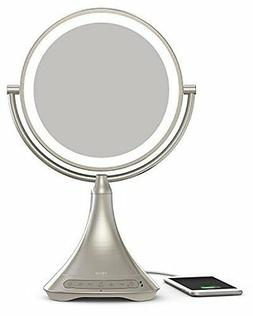 """iHome All-In-One, 7X MAGNIFY, 9"""" 2-Sided LED Makeup Mirror"""