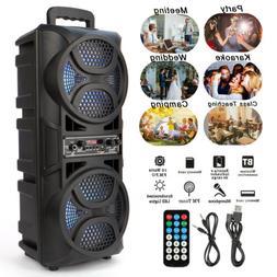 "Dual 6.5"" Woofer Portable BT Party Speaker Heavy Bass Sound"