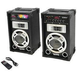 Pyle Pro Dual 800-watt Disco Jam Powered Two-way Pa Bluetoot