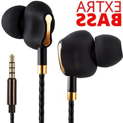 Premium Dual Driver Earbuds - Heavy Extra Bass Earbuds with