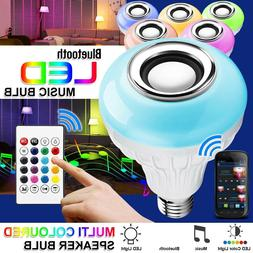 E27 Bulb Speaker Bluetooth LED Light Music RGB Color Wireles