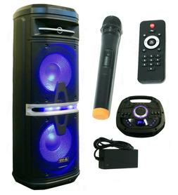 R R NAXA NDS-1211 Naxa 3,000-Watt Portable Karaoke Speaker with Bluetooth R