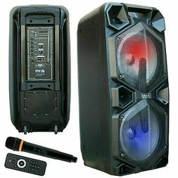 EMB 2000 Watts Rechargeable PA Speaker w/ Light, Echo, Remot