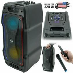 EMB PKL1700 800 Watt Karaoke Portable PA  DJ Speaker w/ MIC,