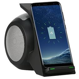Fast Wireless Charger with Bluetooth Speaker, Home Stereo, 2