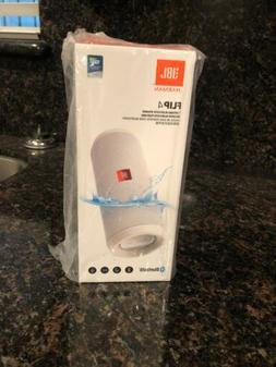 JBL FLIP 4 White Portable Bluetooth Speaker Brand New And Fa