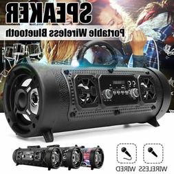 fm portable bluetooth speaker wireless stereo loud