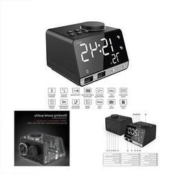 Hetyre 4.2 Inch Alarm Clock Radio, Bluetooth Speaker with Du