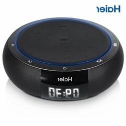 Haier HiFi Bluetooth Speaker Qi Wireless Charger Pad USB Sma