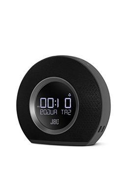Horizon Wireless Speaker with Alarm Clock, FM Radio in Black