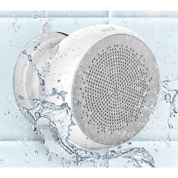 iLuv Aud Shower IPX4 Bluetooth Enabled Shower Speaker, White