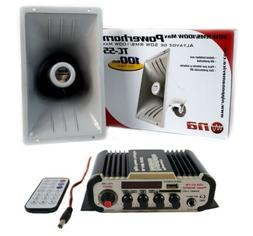 100W Indoor Outdoor PA Power Horn Speaker 80W with HiFi Ampl