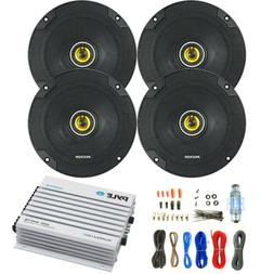 "6.5"" 300W Kicker Coaxial Speakers, 400W Bluetooth 4 Channel"