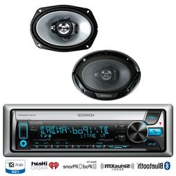 "KMRD772BT Bluetooth iPod CD USB Radio, 2 Kenwood 6x9"" Car 3W"