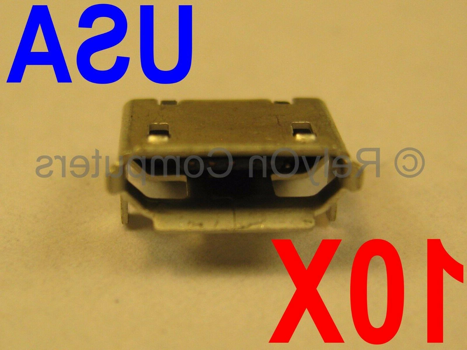 10x lot of micro usb charging port