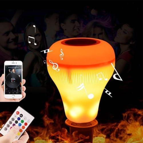 18W LED Wireless Bluetooth Bulb Fire Light Speaker Smart Mus