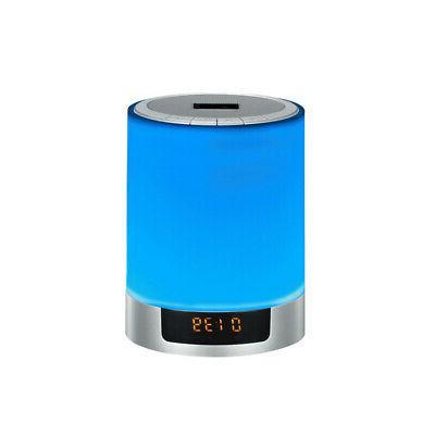1pc Speakers Light Novelty FM Radio Bluetooth Speaker Night