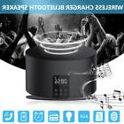 2 in 1 QI LED Wireless Bluetooth Speaker Charger Stereo HIFI