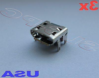 3x micro usb charging charger port oem