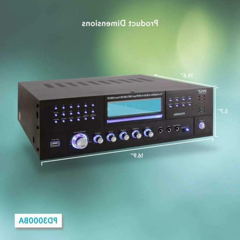 4 Channel Amplifier 3000 Watt Stereo Speaker Rec
