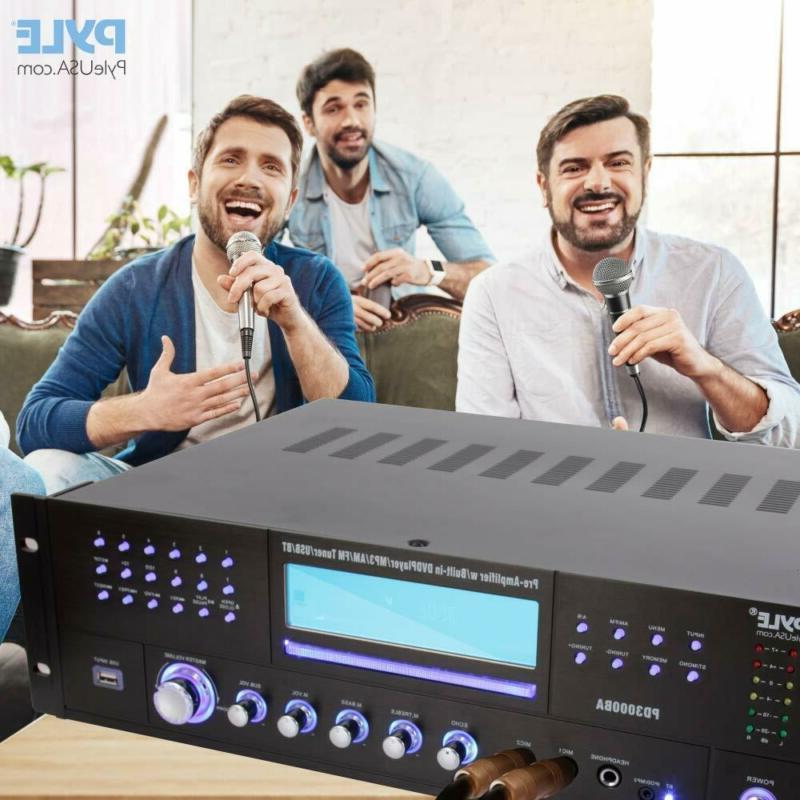 4 Channel Wireless Bluetooth Amplifier - Watt Stereo Speaker Home Audio Rec
