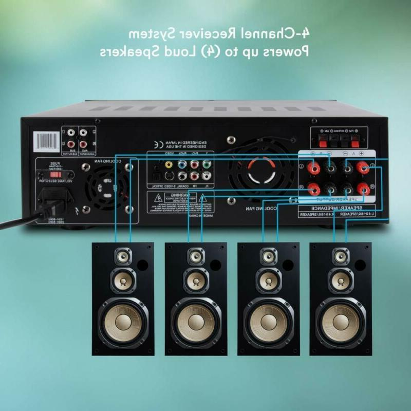 4 Channel Amplifier Stereo Audio Rec