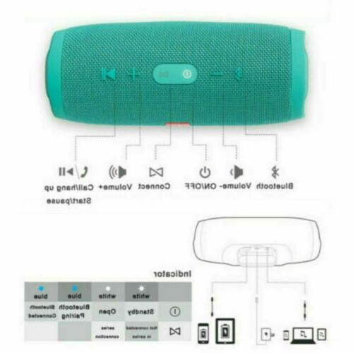 New Portable Waterproof Black Bluetooth Wireless