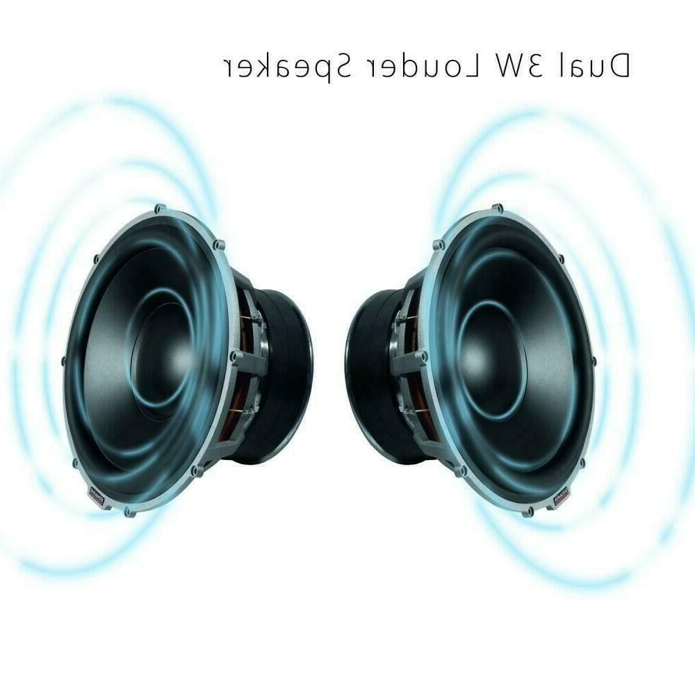 LuguLake Bluetooth Speaker Stand Dock HiFi Brown