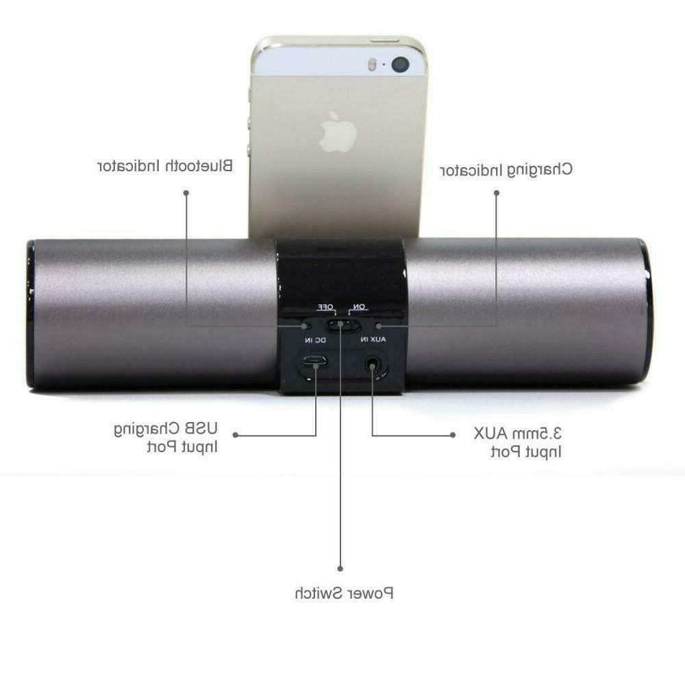 LuguLake Aluminum Bluetooth 4.0 Speaker Stand Dock