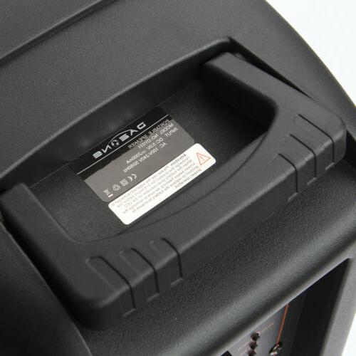 "8"" 1000W Portable FM Bluetooth Speaker Subwoofer Heavy"