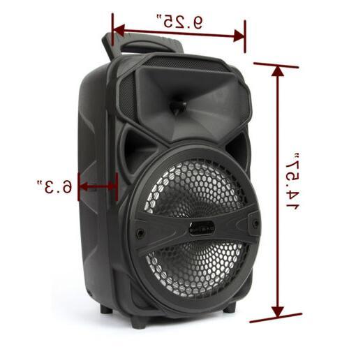 "8"" 1000W Portable FM Bluetooth Speaker Bass"