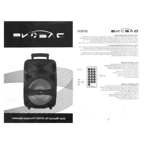 "8"" 1000W Bluetooth Heavy Bass Sound System"