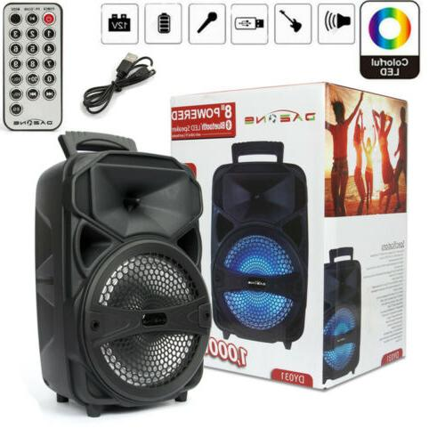 8 1000w portable fm bluetooth speaker subwoofer