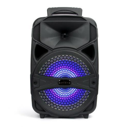 "8"" Bluetooth Speaker Portable Stereo Tailgate"