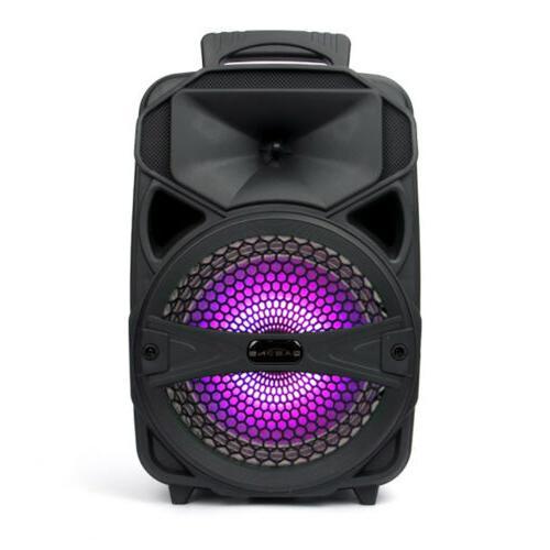 Speaker Portable Travel Tailgate LED+