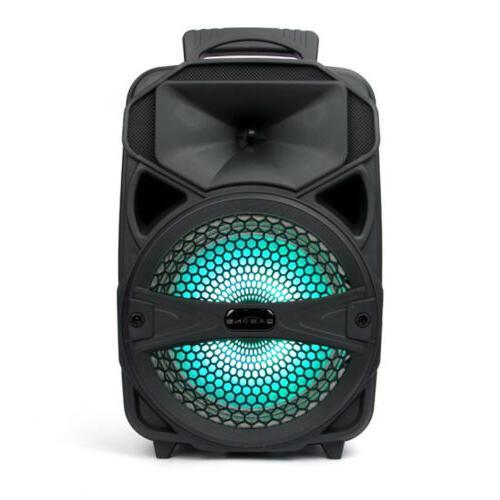 "8"" Bluetooth Speaker Portable Tailgate Remote"