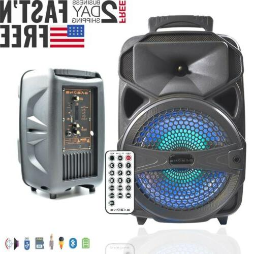 8 bluetooth party bt speaker portable stereo
