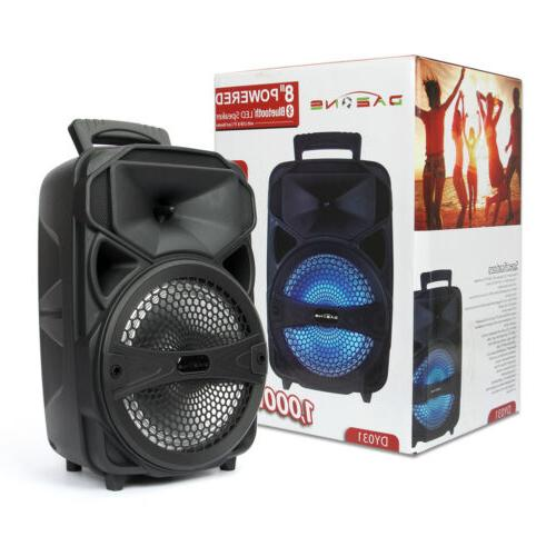 """8"""" Party Speaker Tailgate 1000W Remote"""