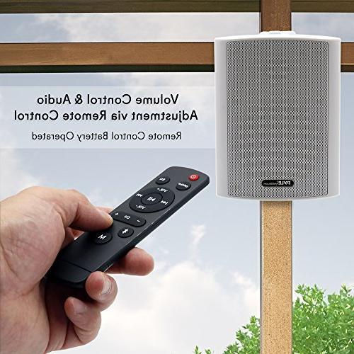 Dual Bluetooth Wall Speakers - 4 200 Pair 2-Way Waterproof Indoor Outdoor Speaker System a Cabinet