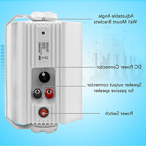 Dual Wall Speakers 4 Inch 200 Watt of 2-Way Indoor WiFi Enabled Speaker System - in a Heavy Cabinet Pyle