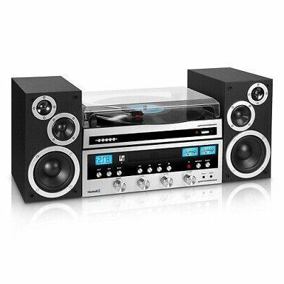Home Stereo System W Bluetooth CD Player FM Radio Streams 33