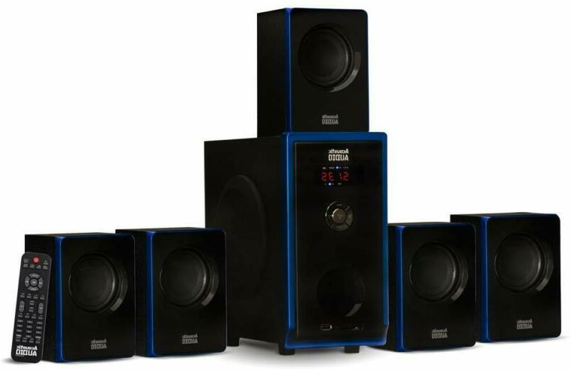 acoustic audio aa5102 bluetooth powered 5 1