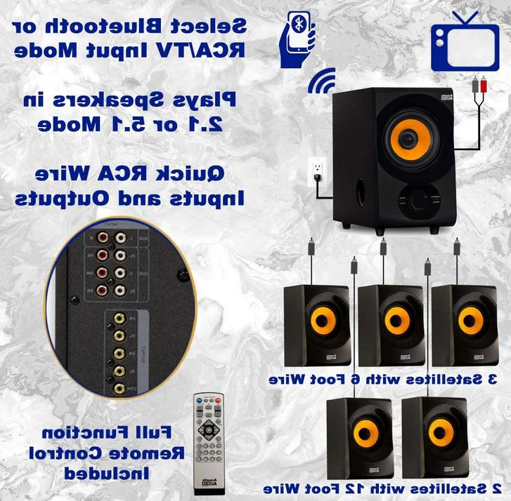 Acoustic AA5170 Home Theater 5.1 Speaker System 700W with Powe