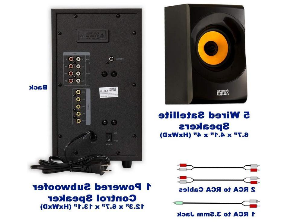 Acoustic Home 5.1 Bluetooth Speaker Powe