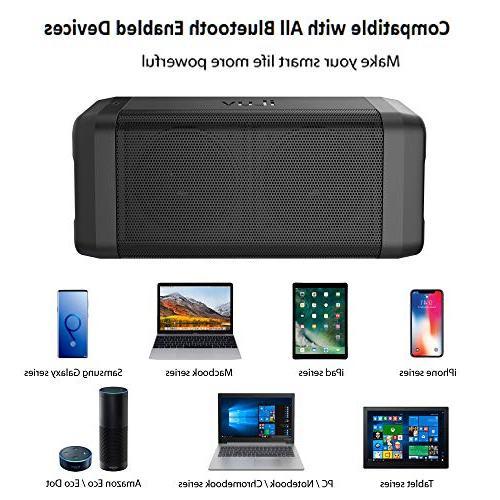 iLuv Bluetooth with HD Range, Deep Bass, Portable Speaker iPhone, Echo
