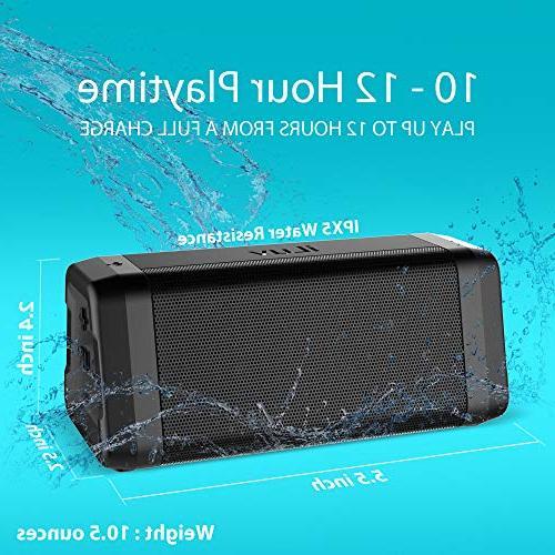 iLuv Audmini Plus V4.2 Bluetooth HD Sound, Full Range, Deep Bass, Speaker iPhone, Echo Dot and